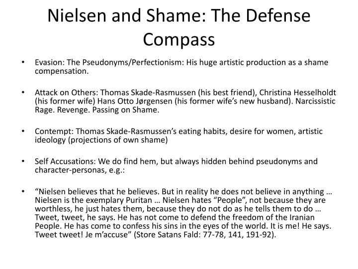 Nielsen and Shame: The Defense Compass