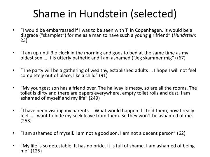 Shame in Hundstein (selected)