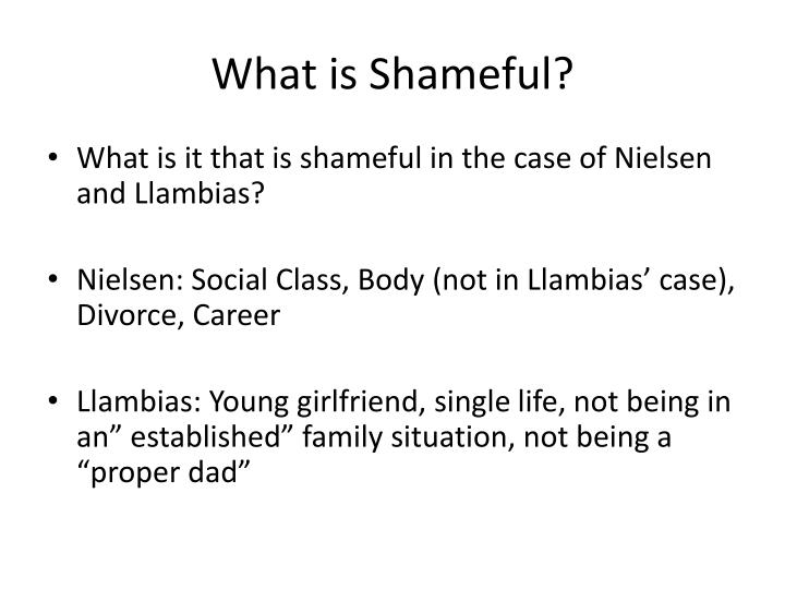 What is Shameful?