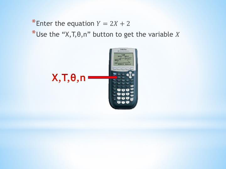 Enter the equation