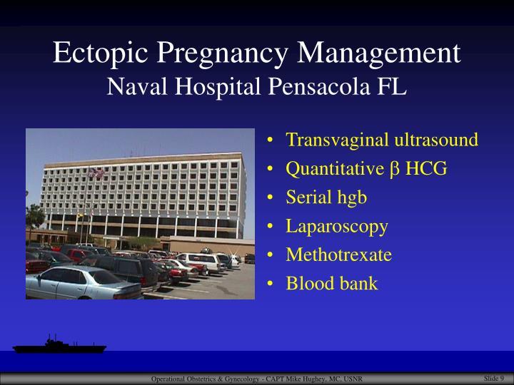 Ectopic Pregnancy Management