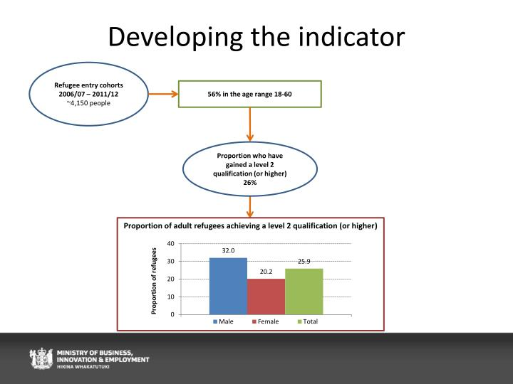 Developing the indicator