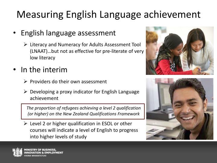 Measuring English Language achievement