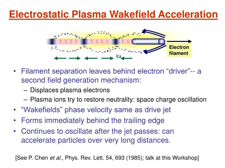 Electrostatic Plasma Wakefield Acceleration