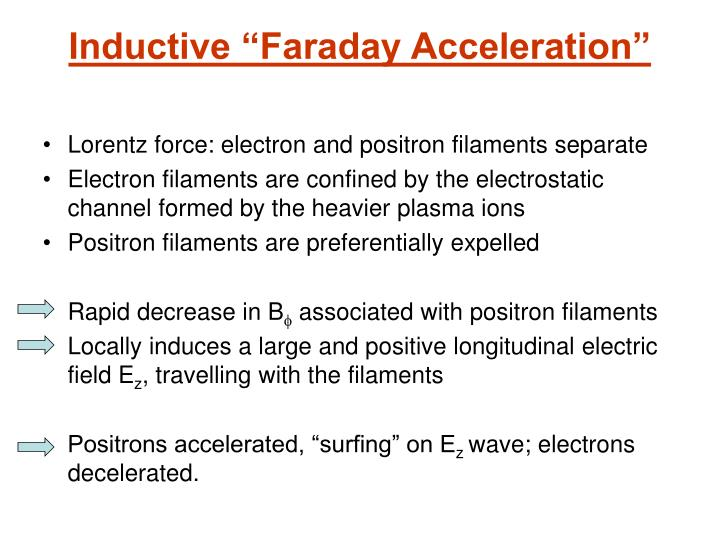 "Inductive ""Faraday Acceleration"""