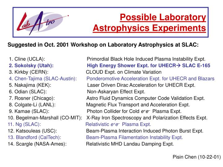 Possible Laboratory