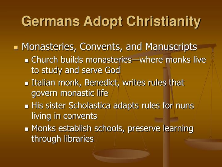 Germans Adopt Christianity
