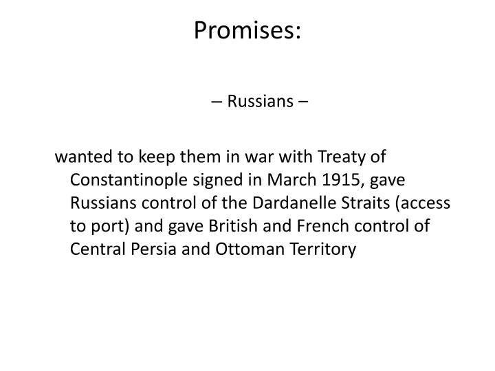 Promises: