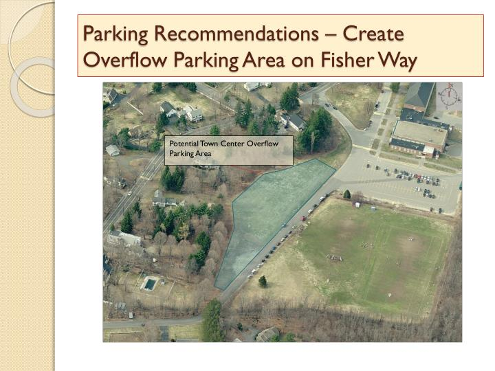 Parking Recommendations – Create Overflow Parking Area on Fisher Way