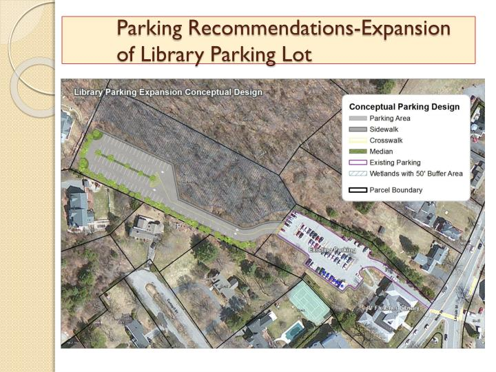Parking Recommendations-Expansion 	of Library Parking Lot