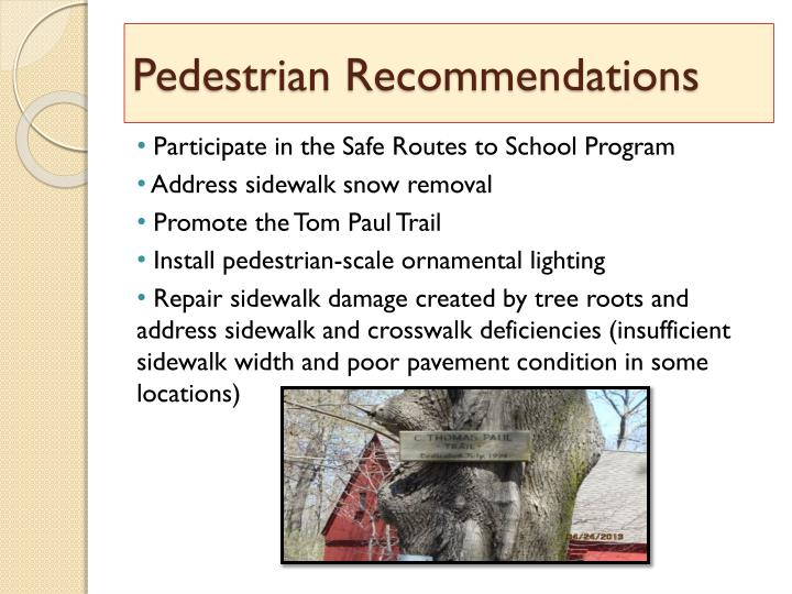 Pedestrian Recommendations