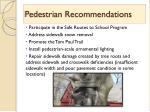 pedestrian recommendations1