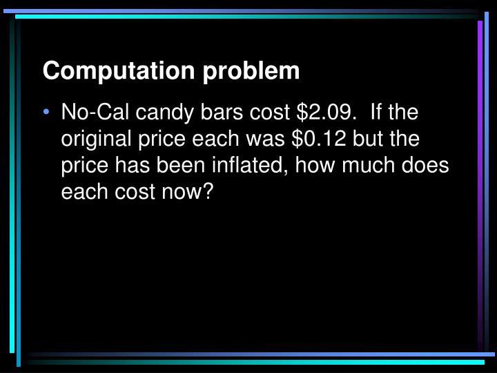 Computation problem