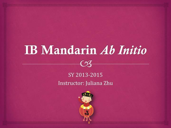 IB Mandarin