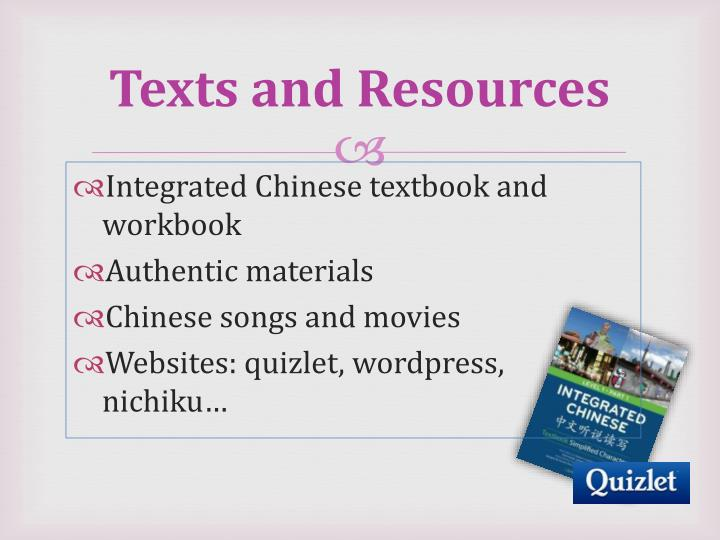 Texts and Resources