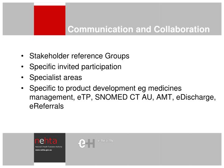 Stakeholder reference Groups