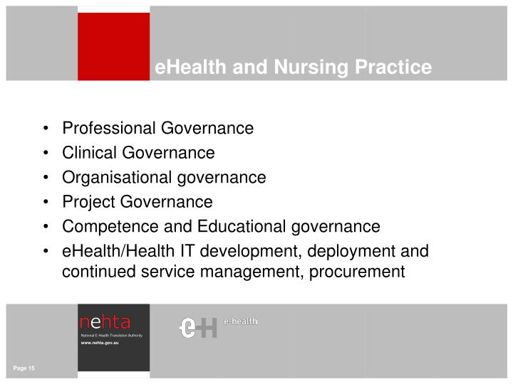 eHealth and Nursing Practice