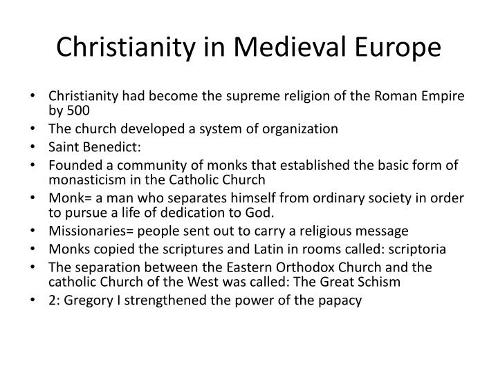 Christianity in Medieval Europe