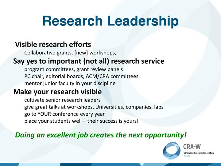 Research Leadership