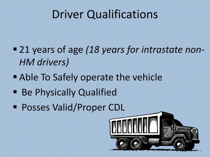 Driver Qualifications