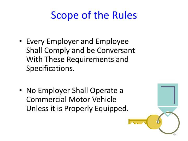 Scope of the Rules