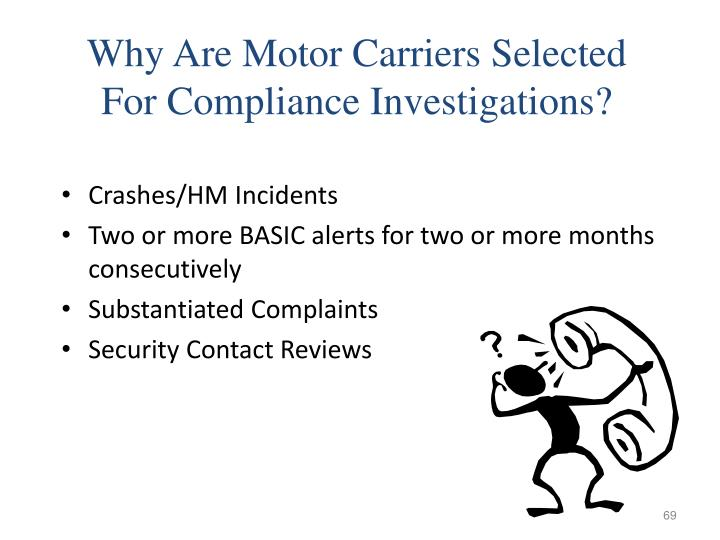 Why Are Motor Carriers Selected