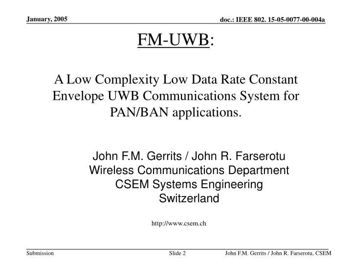 FM-UWB