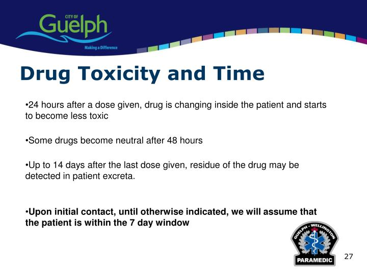 Drug Toxicity and Time