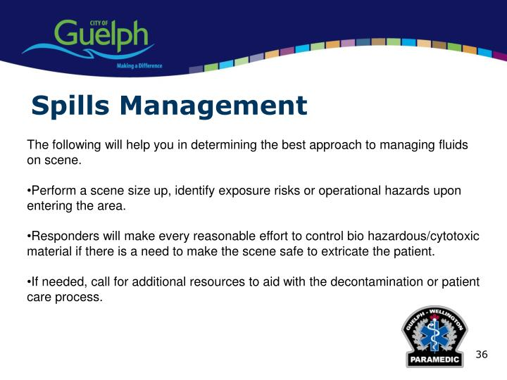 Spills Management