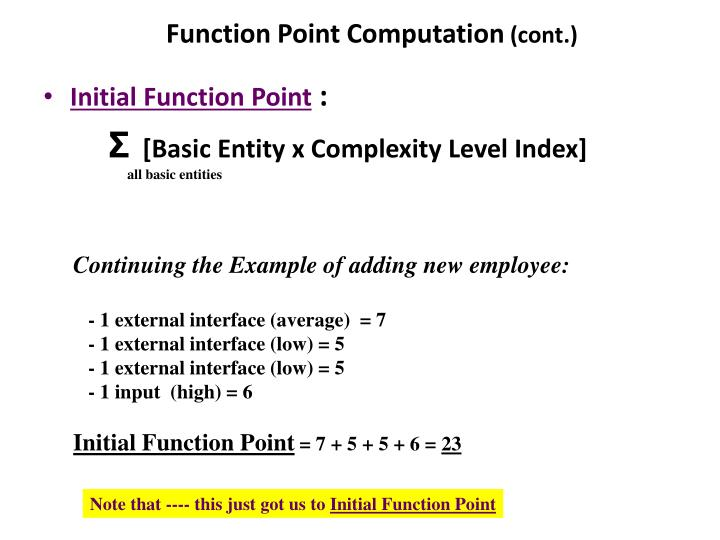 Function Point Computation