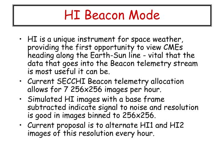 HI Beacon Mode