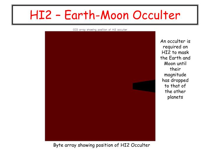 HI2 – Earth-Moon Occulter