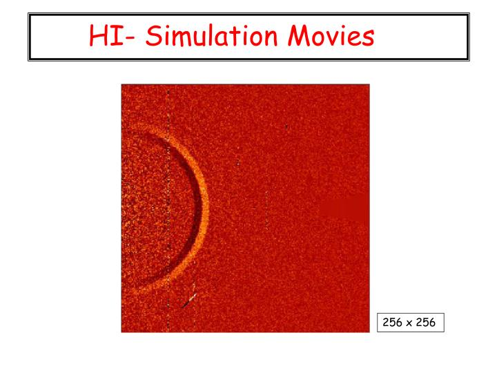 HI- Simulation Movies