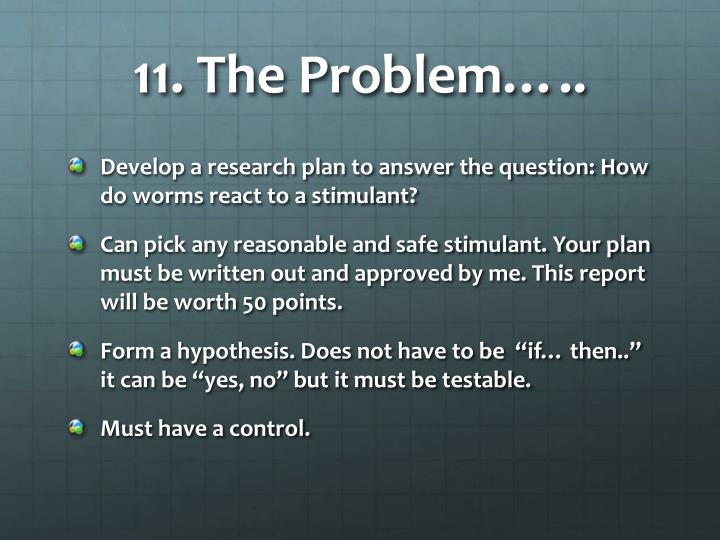 11. The Problem…..