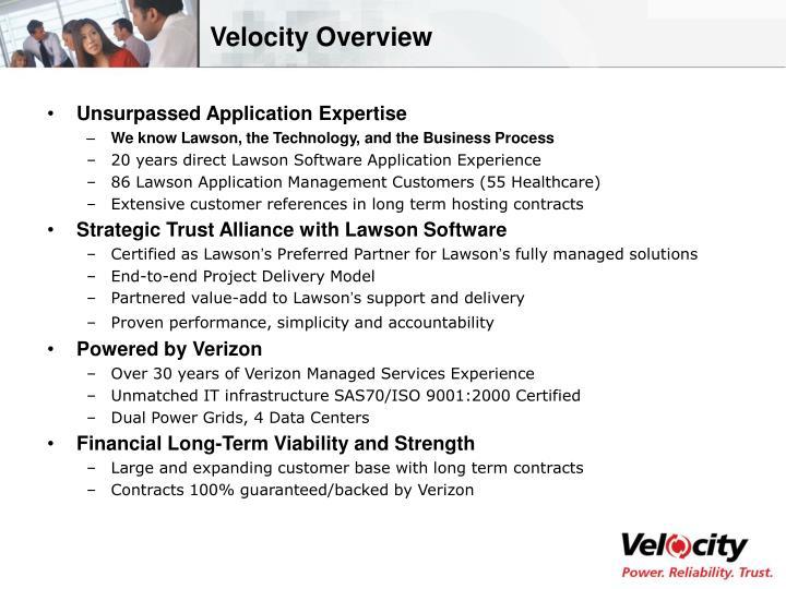 Velocity Overview