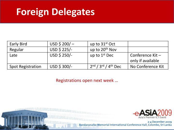Foreign Delegates