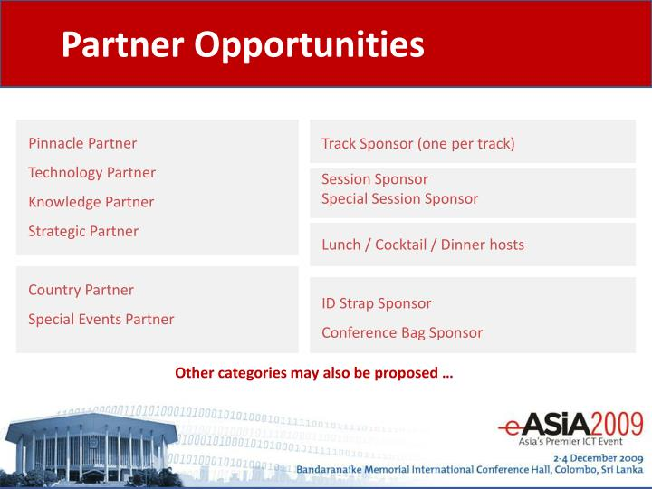 Partner Opportunities