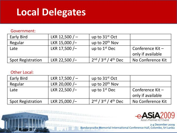 Local Delegates