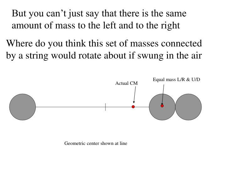Equal mass L/R & U/D