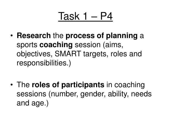 Task 1 – P4