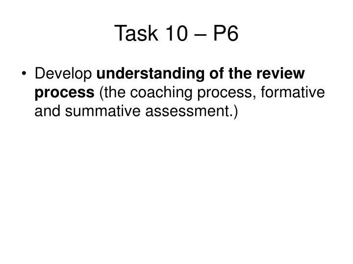 Task 10 – P6