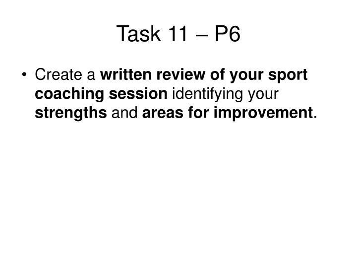 Task 11 – P6