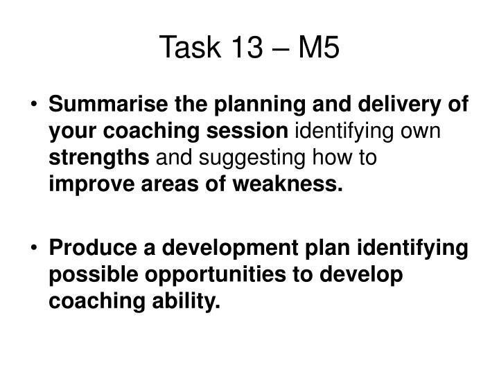 Task 13 – M5