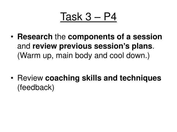 Task 3 – P4