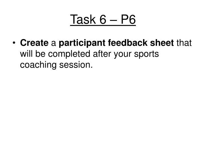 Task 6 – P6