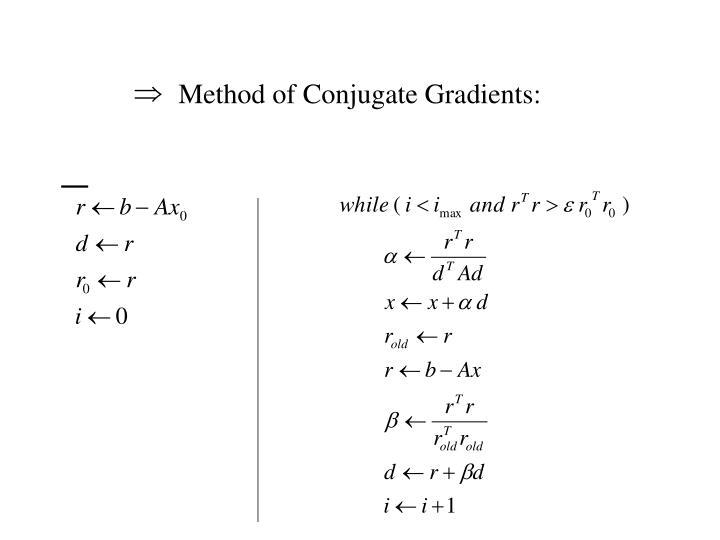 Method of Conjugate Gradients: