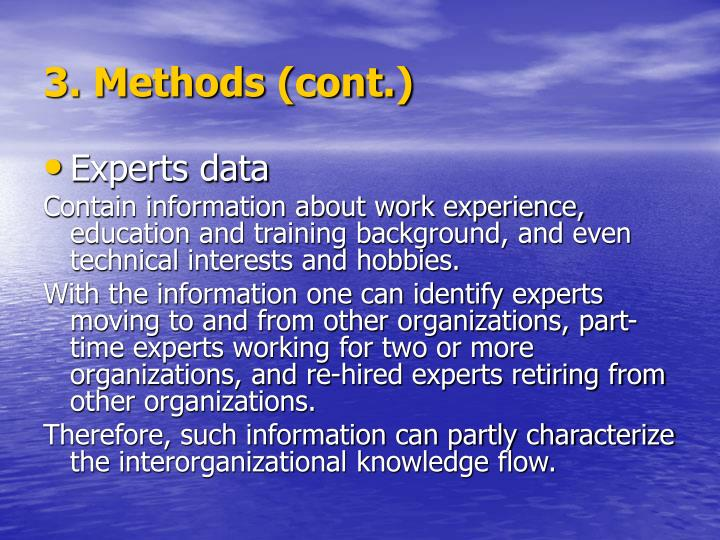 3. Methods (cont.)
