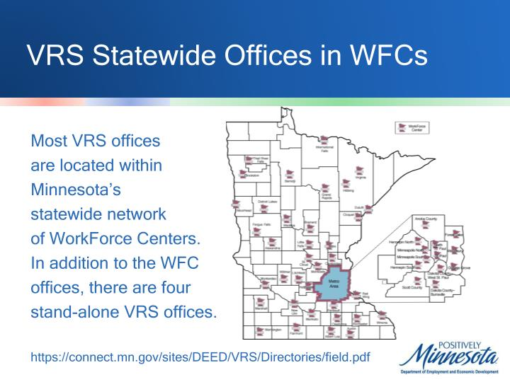 VRS Statewide Offices in WFCs