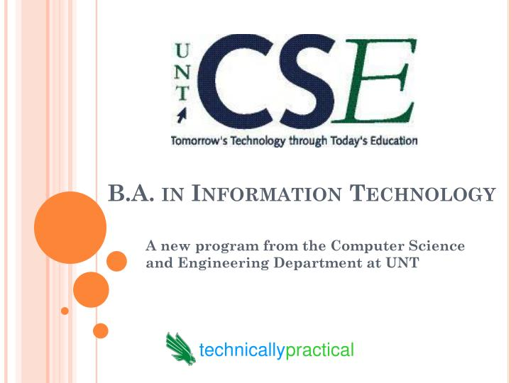 B.A. in Information Technology