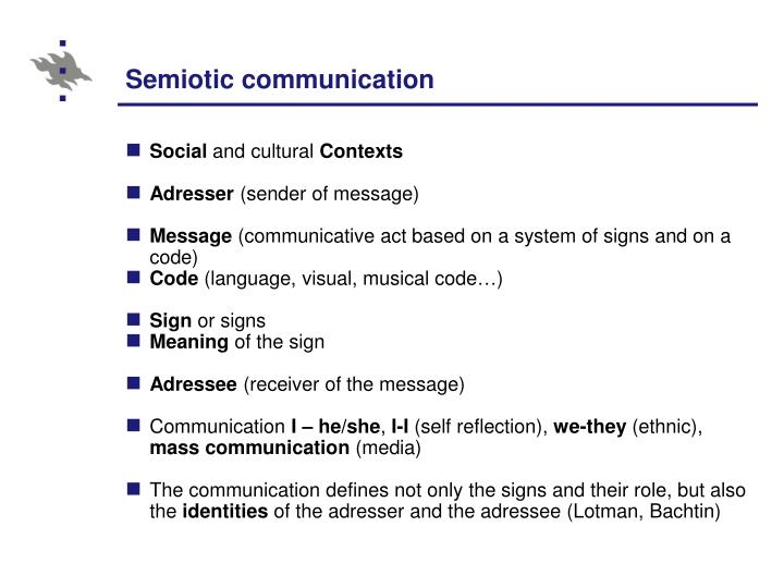 Semiotic communication
